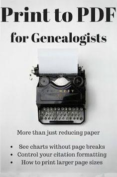 "J.P. Dondero Genealogy: ""Paperless"" Step 1: Print to PDF"