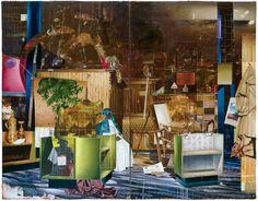 Matthais Weischer, Halle, Öl auf Leinwand, 280 x 360 cm, 2005