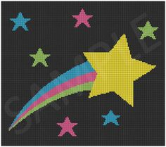 Crochet Shooting Star Graph Afghan Blanket by JustKeepStitching2