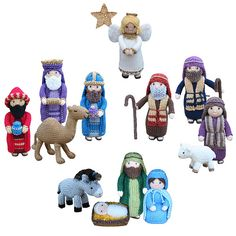 """""""Away in a manger no crib for a bed, the little Lord Jesus lay down his sweet…"""" These adorable characters are a perfect size for young children to play with and enjoy, and learn about the greatest story ever told. The figures also make a lovely festive decoration, which can be displayed and enjoyed year after year."""