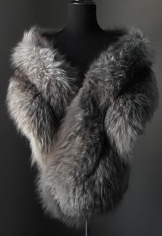 Stay luxuriously warm..…..….Blaze & Lawrence Luxury Furs....https://www.etsy.com/shop/AutumnandYosVintage?ref=hdr_shop_menu….…. Ultimate Luxury Gift Or Wedding Bridal Formal Accessories/ Great Gatsby 20s Inspired Black White Silver Fox Fur Shrug/Vintage Stole Cape Boa