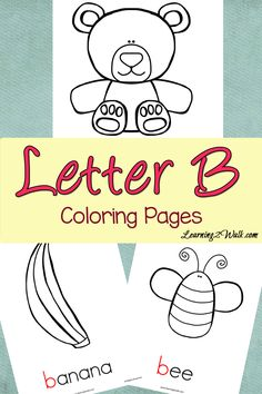 preschool letter activities letter b colouring pages