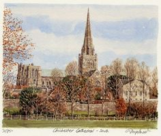Chichester Cathedral - South - Portraits of Britain