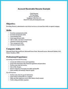 accounts receivable resume presents both skills and also the strengths of the candidate in good format - Account Receivable Resume