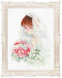 Набор для вышивания крестом 100/050 Невеста от РИОЛИС  Cross stitch kit 100/050 Bride by RIOLIS