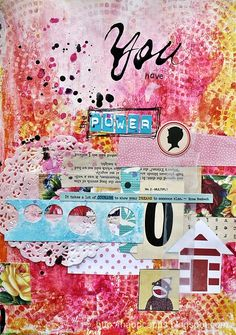 Art Journaling.... By Naomi Capps....It takes a lot of courage to show your dreams to someone else.  omg.  yes.
