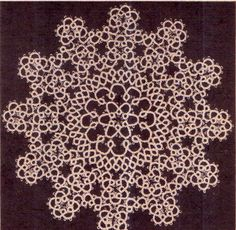 Genuine Vintage 'Ultra-Lacy Set of by TheAtticofKitsch Tatting Patterns, Crochet Patterns, Retro Home Decor, Vintage Crafts, Vintage Knitting, Doilies, Animal Print Rug, Snowflakes, Knit Crochet