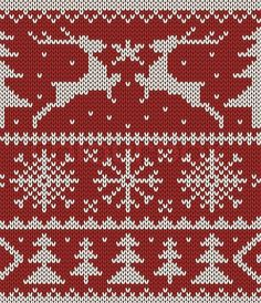 Stock vector of 'Christmas knitted pattern'
