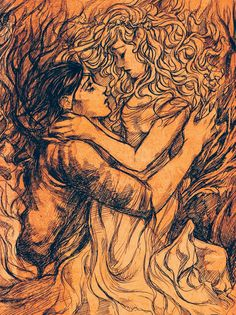 Hades and Persephone, her return.