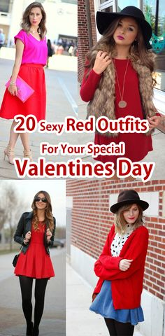 20 Sexy Red Outfits For Your Special Valentine's Day 2016. Valentine Day Special, Valentines Day, Red Outfits, Boy Or Girl, Ads, Celebrities, Sexy, Clothes, Color