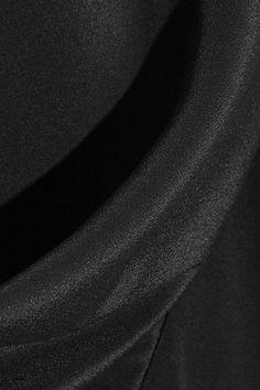 Rick Owens - Draped Satin Tank - Black - IT42