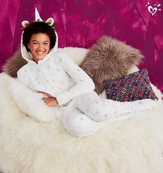 We found the unicorn of all onsesies! Zip into the coziest, cutest sleepwear.