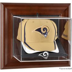 Los Angeles Rams Fanatics Authentic Brown Framed Wall-Mountable Baseball Cap Display Case