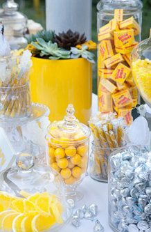 Candy Bar Favors - yellow wedding