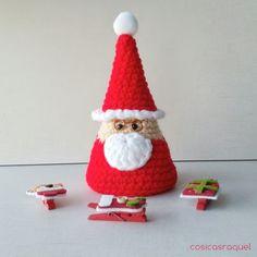 Christmas Projects, Christmas Crafts, Christmas Decorations, Xmas, Christmas Ornaments, Crochet Santa, Holiday Crochet, Amigurumi Patterns, Crochet Patterns