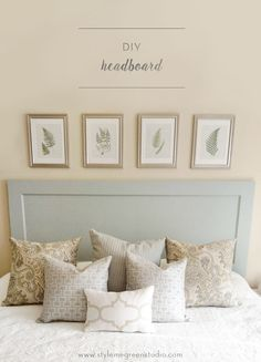 DIY HEADBOARD — Style Me Green  Here is another headboard using a door.  There is a great tutorial included here.