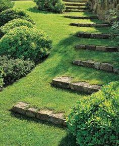 Beautiful grass stairs