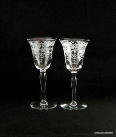 Morgantown Mikado Etch Port Wine / Sherry by soflacollectors86, $39.00