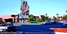 1962 view of the (1952) Sands' Casino. Now the location of Venetian Hotel's north, outdoor Gondola Canal.