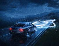 Audi Xenon Lights | Nutslocomotyva, via Behance