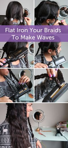 Beauty Hack! Flat Iron Your Braids To Make Waves http://www.hellobrit.com/style/beauty-hack-flat-iron-your-braids-to-make-waves/