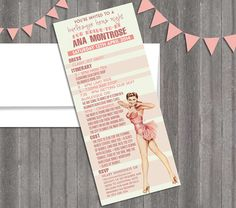 Hey, I found this really awesome Etsy listing at https://www.etsy.com/listing/185825128/vintage-pin-up-girl-burlesque-invitation