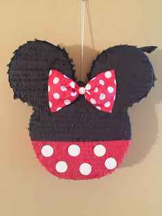 Handmade Minnie mouse pinata Copyright: All copyrights and trademarks of the characters used belong to their respective owners and are not being sold. This item is not a licensed product and I do not claim ownership over the characters used in the designs. Payment and sale in this