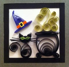 quilled halloween cat                                                                                                                                                                                 More