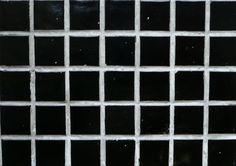 Mosaique piscine au m²- vente en ligne de mosaïque pâte de verre tons noir, 2 cm plaque