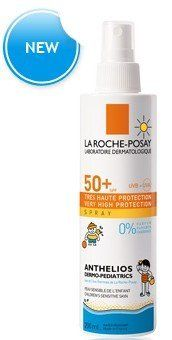 La Roche Posay Anthelios Dermo-Pediatrics SPF 50+ Spray 200 Ml. by La Roche Posay Anthelios Dermo-Pediatrics SPF 50+ Spray 200 Ml.. $22.95. Very high face and body protection. Ultra UVA (PPD 22).. Children's sensitive, fair skin. Sun intolerance. Extreme sun exposure.. Fragrance-free. Paraben free. Water- and perspiration-resistant.. Properties High UVA/UVB protection. Broad, photostable Ultra* UVB/UVA protection thanks to the Mexoryl® SX and XL filters.  - Practical...