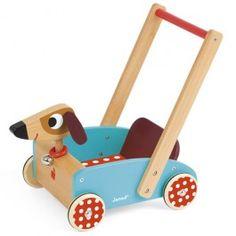 janod loopwagen crazy hond