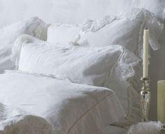 Bella Notte Linens Linen Whisper Shams Ship Free, Gorgeous Ruffled Linen Shams