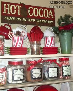 Ribbonwood Cottage: FREE Chalkboard labels for your own Hot Chocolate Station. Christmas Hot Chocolate, Hot Chocolate Bars, Christmas Coffee, Christmas Kitchen, Holiday Fun, Christmas Time, Vintage Christmas, Christmas Crafts, Christmas Ideas