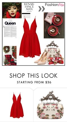 """""""Red"""" by nikkirozaye on Polyvore featuring Ally Fashion, Alexander McQueen, Rupert Sanderson, women's clothing, women, female, woman, misses and juniors"""