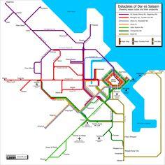 Dar es Salaam Daladala Map. Where was this when I needed it!? Gotta use it when I next go to Dar.