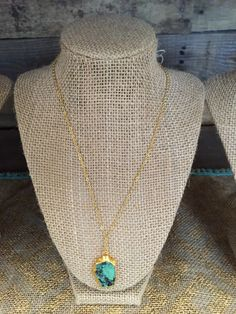 24k gold plated turquoise necklace.  Only $30