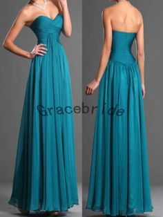 I LOVE the waistline on this one!  long chiffon dresses simple cheap dresses cute by Gracebride, $128.00