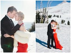 Mt. Hood engagement photos taken at Timberline Lodge by Katy Weaver