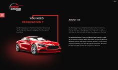 About Us page designed for car garage website by Brand Talkies, Abu Dhabi, UAE.