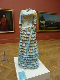 ℘ Paper Dress Prettiness ℘ art dress made of paper