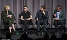 Meet the team: Cate and Rooney were joined by supporting star Jake Lacy (second right) and...