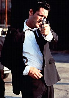 Michael Madsen / Born: Michael Soren Madsen, September 25, 1957 in Chicago, Illinois, USA / as Mr. Blonde - Vic Vega, in Reservoir Dogs (1992)