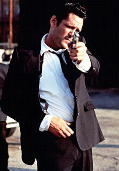 Michael Madsen / Born: Michael Soren Madsen, September 25, 1957 in Chicago, Illinois, USA / as Mr. Blonde - Vic Vega, in Reservoir Dogs (1992)