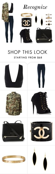 """""""Recognize"""" by anaelle2 ❤ liked on Polyvore featuring Koral, Yves Saint Laurent, Giuseppe Zanotti, Givenchy, Chanel, Cartier, Rivka Friedman and Atmos&Here"""
