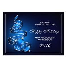 92 best business and corporate christmas cards images on pinterest personalized 2016 business christmas greeting card m4hsunfo