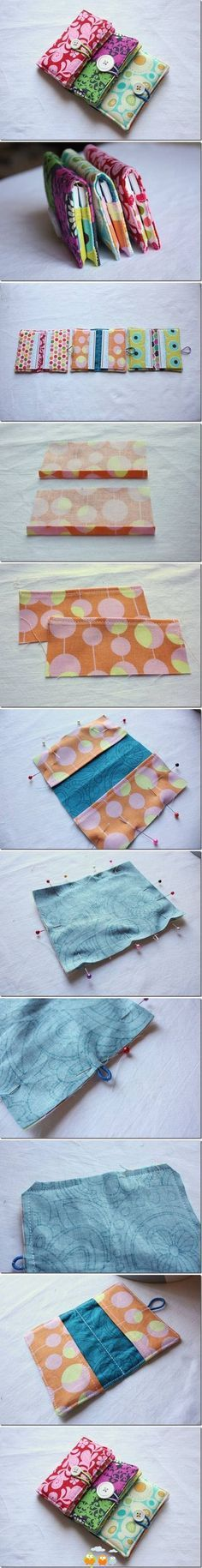 I thought this was so cute...could make this for many purposes. Tissue holder, notebooks, wallet