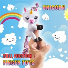 New Finger unicorn Interactive Baby Unicorn Mini Interactive Finger sloth Smart Finger monkey Smart Unicorn Toys Christmas Gift - Kid Shop Global - Kids & Baby Shop Online - baby & kids clothing, toys for baby & kid Unicorn Stuffed Animal, Baby Unicorn, Toddler Toys, Baby Toys, Kids Toys, Pet Toys, Baby Shop Online, Funny Toys, Gifted Kids
