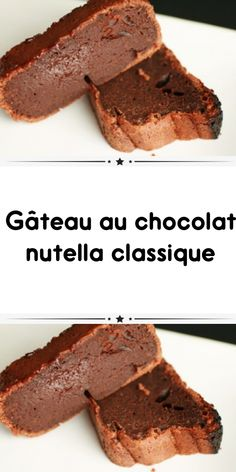Classic Nutella Chocolate Cake is such a simple recipe for you to make such a delicious cake for the family. Nutella Chocolate Cake, Hot Chocolate Gifts, Sweet Recipes, Cake Recipes, Dessert Recipes, Cherry Jam Recipes, Good Food, Yummy Food, Coffee Cake