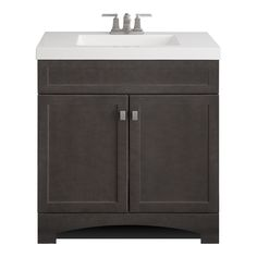 Shop Style Selections Drayden Grey Integral Single Sink Bathroom Vanity with Cultured Marble Top (Common: 31-in x 19-in; Actual: 30.5-in x 18.75-in) at Lowes.com