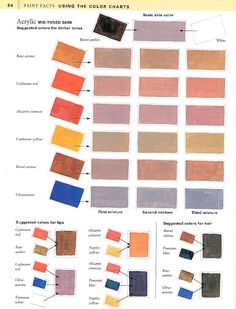 Color Chart for Skin Tones.  http://slappingpaint.net/4-mid-toned-skin.jpg  For other Skin Color Charts...  http://slappingpaint.net/JN_creatingfleshtones.htm